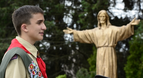 Scout's Prayer Path Project Shines at St. Elizabeth Ann Seton