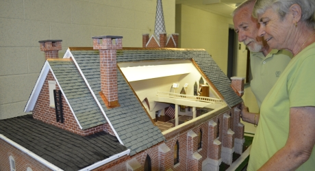 Parishioner Builds Replica of St. Joseph Church in Milton