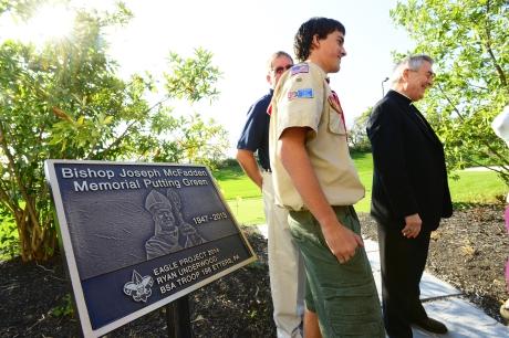 Putting Green Honors Bishop McFadden
