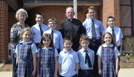 Father McLoughlin Honored with NCEA Distinguished Pastor Award