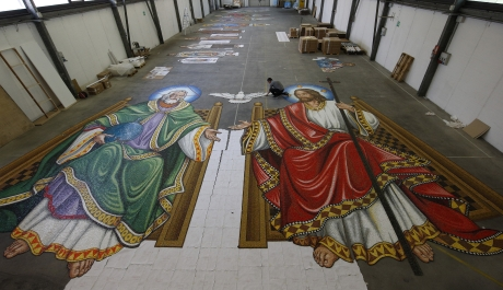 """Mosaic for Trinity Dome 'Crowning Jewel"""" for National Shrine"""