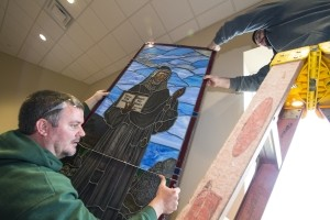 Newly Crafted Stained Glass Beautifully Adorns Divine Mercy Chapel at St. Elizabeth Ann Seton Church
