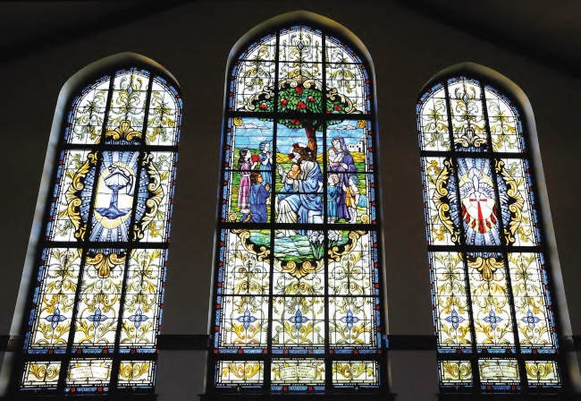 New Windows at St. Pius Church Illustrate Tangible Signs of the Faith