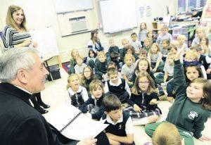 Bishop Gainer Welcomed at St. Patrick School, Carlisle