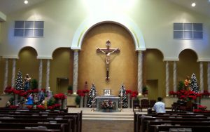 Interior of the new church