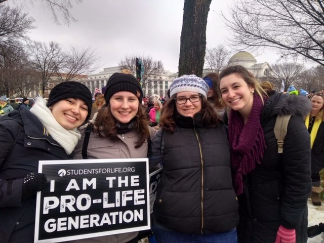 Students from Shippensburg University participate in the March for Life in Washington, D.C.