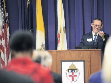 """Eric Failing, Executive Director of the Pennsylvania Catholic Conference, presents a reflection, """"Approaching Adversaries with Love: Reshaping Debate to Achieve Wisdom, Not Wins."""""""