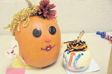 Pumpkins from the Conewago Campus illustrate students' school spirit.