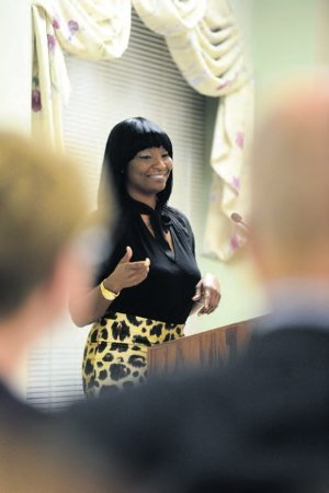 Rashanda Lloyd, a Lourdeshouse graduate who now serves at the maternity home, talks about how she found help and hope at the program 16 years ago.