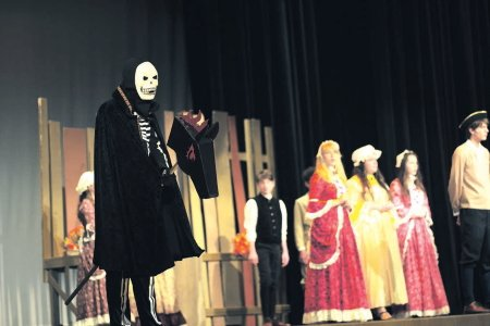 Brady Miller portrays a ghostly skeleton in Bishop McDevitt's fall drama: The Legend of Sleepy Hollow.